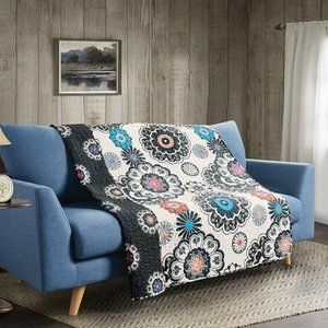 """""""Nadira"""" Quilted Throw"""